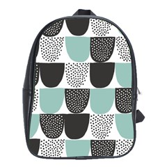 Sugar Blue Fabric Polka Dots Circle School Bags(large)