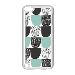 Sugar Blue Fabric Polka Dots Circle Apple Ipod Touch 5 Case (white) by Mariart