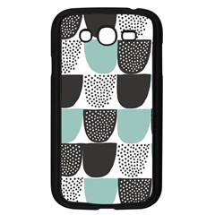 Sugar Blue Fabric Polka Dots Circle Samsung Galaxy Grand Duos I9082 Case (black) by Mariart