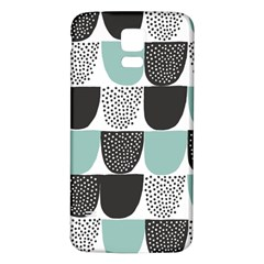 Sugar Blue Fabric Polka Dots Circle Samsung Galaxy S5 Back Case (white) by Mariart