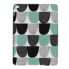 Sugar Blue Fabric Polka Dots Circle Ipad Air 2 Hardshell Cases by Mariart