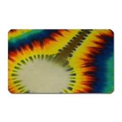 Red Blue Yellow Green Medium Rainbow Tie Dye Kaleidoscope Opaque Color Magnet (rectangular) by Mariart