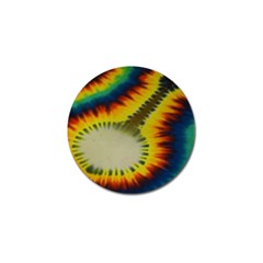 Red Blue Yellow Green Medium Rainbow Tie Dye Kaleidoscope Opaque Color Golf Ball Marker (4 Pack) by Mariart