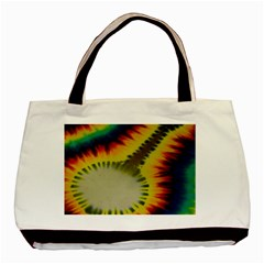 Red Blue Yellow Green Medium Rainbow Tie Dye Kaleidoscope Opaque Color Basic Tote Bag by Mariart