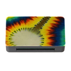 Red Blue Yellow Green Medium Rainbow Tie Dye Kaleidoscope Opaque Color Memory Card Reader With Cf by Mariart