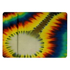 Red Blue Yellow Green Medium Rainbow Tie Dye Kaleidoscope Opaque Color Samsung Galaxy Tab 10 1  P7500 Flip Case by Mariart