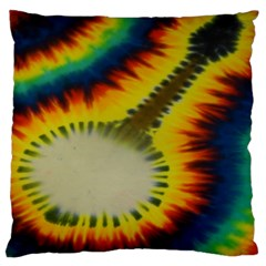 Red Blue Yellow Green Medium Rainbow Tie Dye Kaleidoscope Opaque Color Large Flano Cushion Case (two Sides) by Mariart