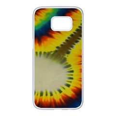 Red Blue Yellow Green Medium Rainbow Tie Dye Kaleidoscope Opaque Color Samsung Galaxy S7 Edge White Seamless Case by Mariart