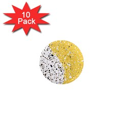 Spot Polka Dots Orange Black 1  Mini Magnet (10 Pack)  by Mariart