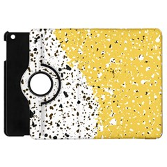 Spot Polka Dots Orange Black Apple Ipad Mini Flip 360 Case by Mariart