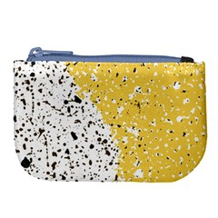 Spot Polka Dots Orange Black Large Coin Purse by Mariart