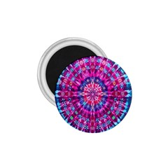 Red Blue Tie Dye Kaleidoscope Opaque Color Circle 1 75  Magnets by Mariart