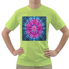 Red Blue Tie Dye Kaleidoscope Opaque Color Circle Green T Shirt by Mariart