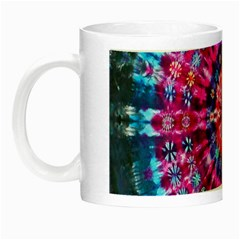 Red Blue Tie Dye Kaleidoscope Opaque Color Circle Night Luminous Mugs by Mariart