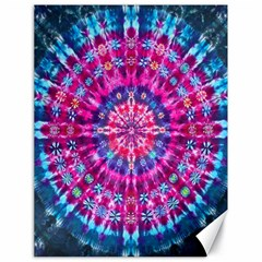 Red Blue Tie Dye Kaleidoscope Opaque Color Circle Canvas 18  X 24   by Mariart