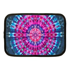 Red Blue Tie Dye Kaleidoscope Opaque Color Circle Netbook Case (medium)  by Mariart