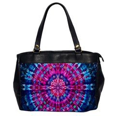 Red Blue Tie Dye Kaleidoscope Opaque Color Circle Office Handbags by Mariart