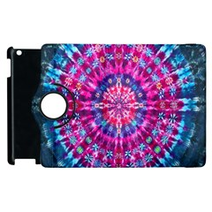 Red Blue Tie Dye Kaleidoscope Opaque Color Circle Apple Ipad 3/4 Flip 360 Case by Mariart