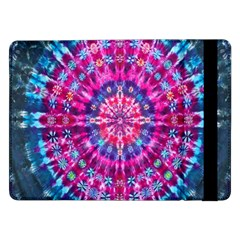Red Blue Tie Dye Kaleidoscope Opaque Color Circle Samsung Galaxy Tab Pro 12 2  Flip Case by Mariart
