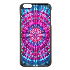 Red Blue Tie Dye Kaleidoscope Opaque Color Circle Apple Iphone 6 Plus/6s Plus Black Enamel Case