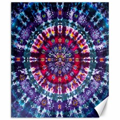 Red Purple Tie Dye Kaleidoscope Opaque Color Canvas 20  X 24   by Mariart