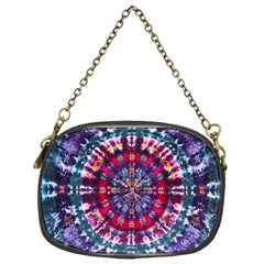 Red Purple Tie Dye Kaleidoscope Opaque Color Chain Purses (one Side)