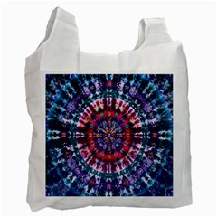 Red Purple Tie Dye Kaleidoscope Opaque Color Recycle Bag (one Side) by Mariart