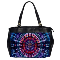 Red Purple Tie Dye Kaleidoscope Opaque Color Office Handbags by Mariart