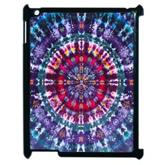 Red Purple Tie Dye Kaleidoscope Opaque Color Apple Ipad 2 Case (black) by Mariart