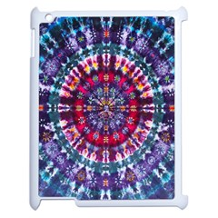 Red Purple Tie Dye Kaleidoscope Opaque Color Apple Ipad 2 Case (white) by Mariart