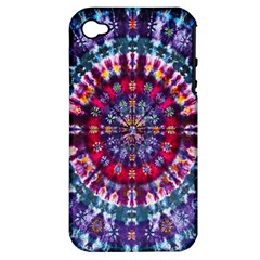 Red Purple Tie Dye Kaleidoscope Opaque Color Apple Iphone 4/4s Hardshell Case (pc+silicone) by Mariart