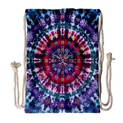 Red Purple Tie Dye Kaleidoscope Opaque Color Drawstring Bag (large) by Mariart