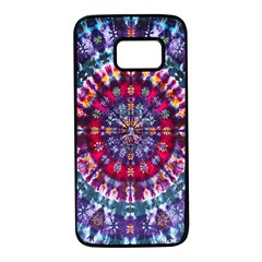 Red Purple Tie Dye Kaleidoscope Opaque Color Samsung Galaxy S7 Black Seamless Case by Mariart