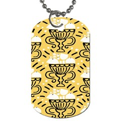 Trophy Beers Glass Drink Dog Tag (two Sides)