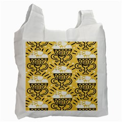 Trophy Beers Glass Drink Recycle Bag (one Side) by Mariart
