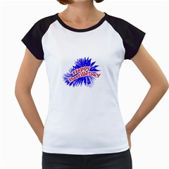 Happy Bastille Day Graphic Logo Women s Cap Sleeve T by dflcprints