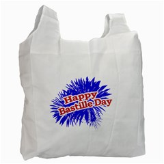 Happy Bastille Day Graphic Logo Recycle Bag (two Side)  by dflcprints