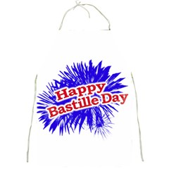 Happy Bastille Day Graphic Logo Full Print Aprons by dflcprints