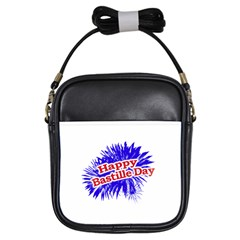 Happy Bastille Day Graphic Logo Girls Sling Bags by dflcprints