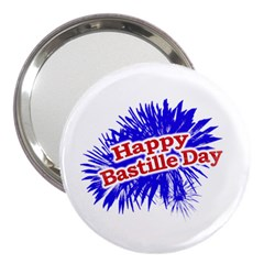 Happy Bastille Day Graphic Logo 3  Handbag Mirrors by dflcprints