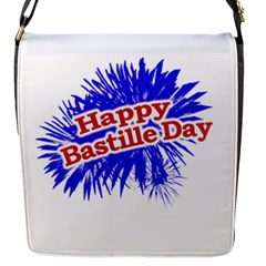 Happy Bastille Day Graphic Logo Flap Messenger Bag (s) by dflcprints