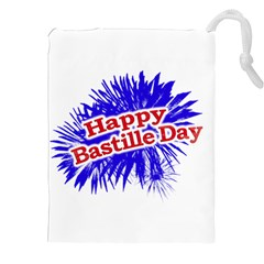 Happy Bastille Day Graphic Logo Drawstring Pouches (xxl) by dflcprints