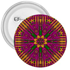 Feather Stars Mandala Pop Art 3  Buttons by pepitasart