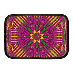 Feather Stars Mandala Pop Art Netbook Case (medium)  by pepitasart