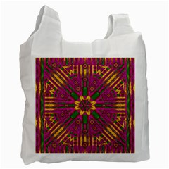 Feather Stars Mandala Pop Art Recycle Bag (one Side) by pepitasart