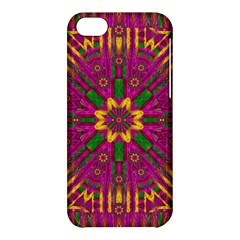 Feather Stars Mandala Pop Art Apple Iphone 5c Hardshell Case by pepitasart