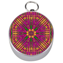 Feather Stars Mandala Pop Art Silver Compasses by pepitasart