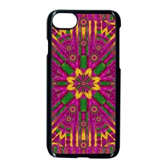 Feather Stars Mandala Pop Art Apple Iphone 7 Seamless Case (black) by pepitasart