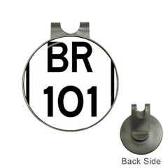 Brazil Br 101 Transcoastal Highway  Hat Clips With Golf Markers by abbeyz71