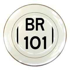 Brazil Br 101 Transcoastal Highway  Porcelain Plates by abbeyz71